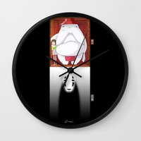 spirited away Wall Clocks featuring Spirited Away by Leamartes