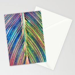 503 - Canna Leaf Abstract Stationery Cards