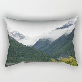 Foggy Mountain Mornings Rectangular Pillow