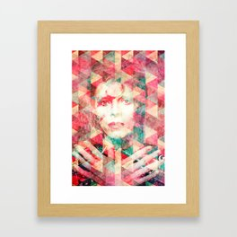 Bowie abstraction Framed Art Print