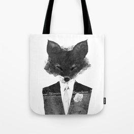 minima - dapper fox   noir Tote Bag