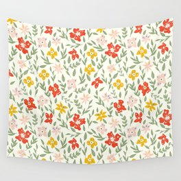 Fun Bright Botanical Floral Wall Tapestry