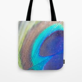 Peacock feather - Macro Photography Tote Bag