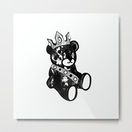 Bear King Splash Metal Print