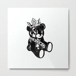 Bear King Splash Metal Print