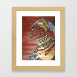 Blackman or African Framed Art Print