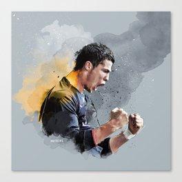 Cristiano ronaldo - painting Canvas Print