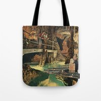 nick cave Tote Bags featuring Cave by Sarah Eisenlohr