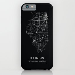 Illinois State Road Map iPhone Case
