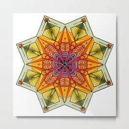 octagonal flowers Metal Print