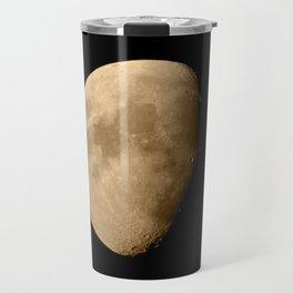 4K Dark Side of the Moon Golden Yellow Travel Mug