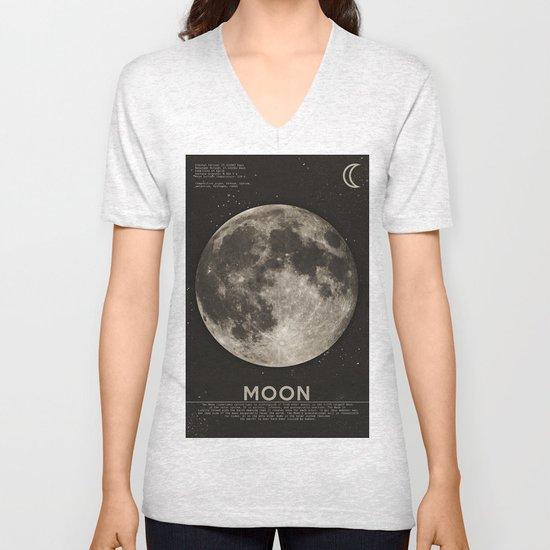 The Moon Unisex V-Neck