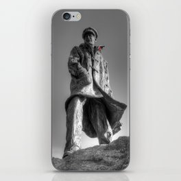 Colonel Sir Archibald David Stirling with a red poppy iPhone Skin