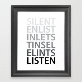 Silent Listen Framed Art Print