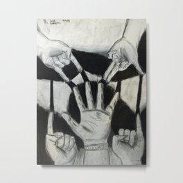 Cinco Manos Izquierdas Metal Print