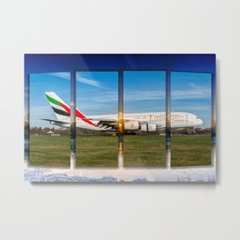 A380 anding at Manchester on a Frosty Morning Metal Print
