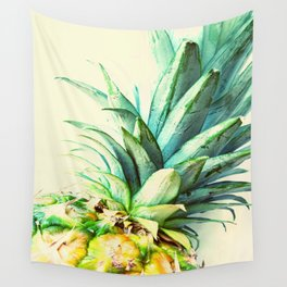 Green Pineapple Wall Tapestry