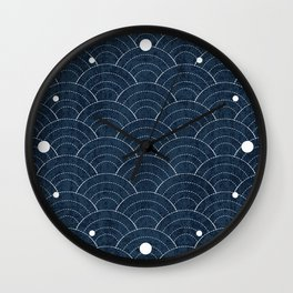 Sashiko Pattern Wall Clock