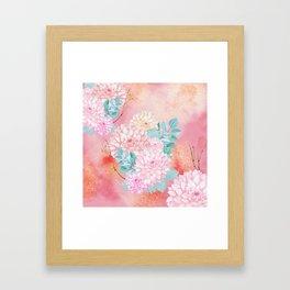 Gold dahlia bouquet #society6 Framed Art Print