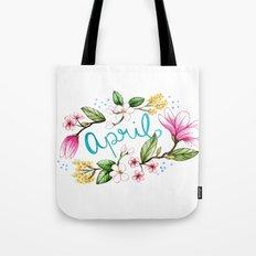April Flowers Tote Bag