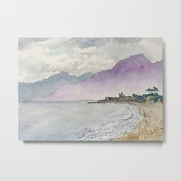 West Coast Beach Carpinteria Metal Print