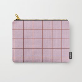 Citymap Grid - Lilac/Rust Carry-All Pouch