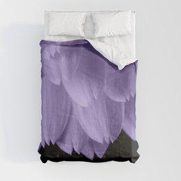 Ultra violet purple flower petals black Comforters