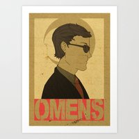 good omens Art Prints featuring OMENS by Cool Like Jello