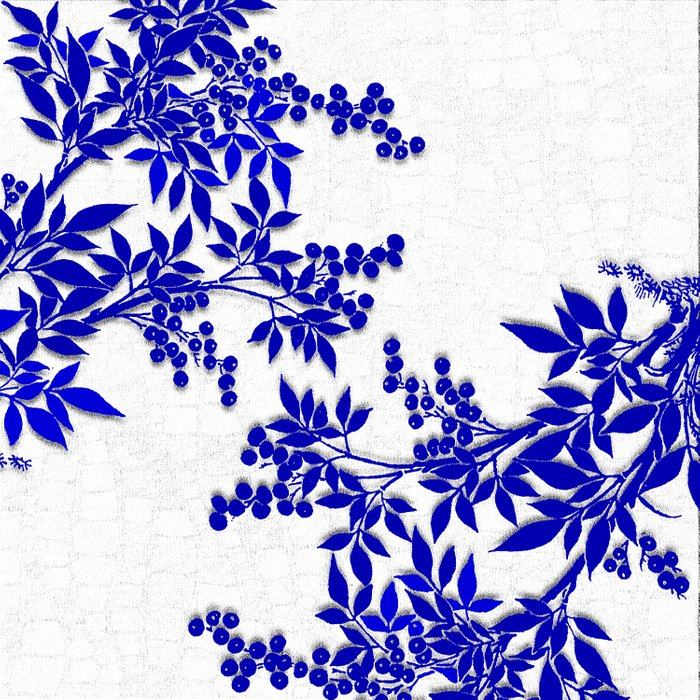 BLUE AND WHITE  TOILE LEAF Duvet Cover