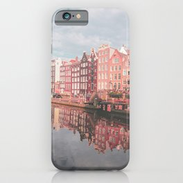 Colourful Amsterdam City in The Netherlands   Travel Photography iPhone Case