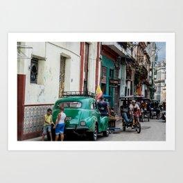 Old Havana Avenue Art Print
