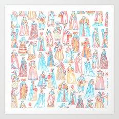 Renaissance Fashion Art Print
