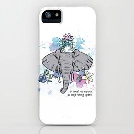 Elephants, Flowers & Mantras iPhone Case
