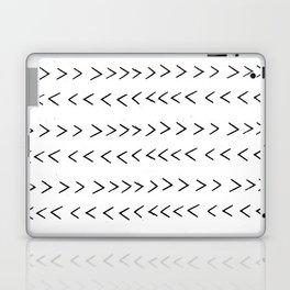 linocut Mudcloth grey and white minimal modern chevron arrows pattern gifts dorm college decor Laptop & iPad Skin