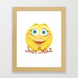 Just Smile :) Framed Art Print