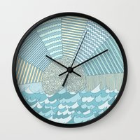 sunrise Wall Clocks featuring Sunrise by Anita Ivancenko