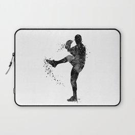 Baseball Boy Art Softball Pitcher Black and White Art Sports Gift Laptop Sleeve