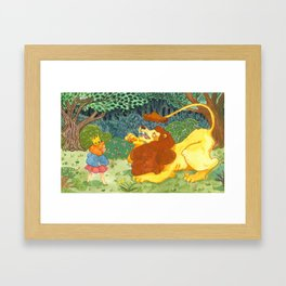 The Lion and The Crown Framed Art Print