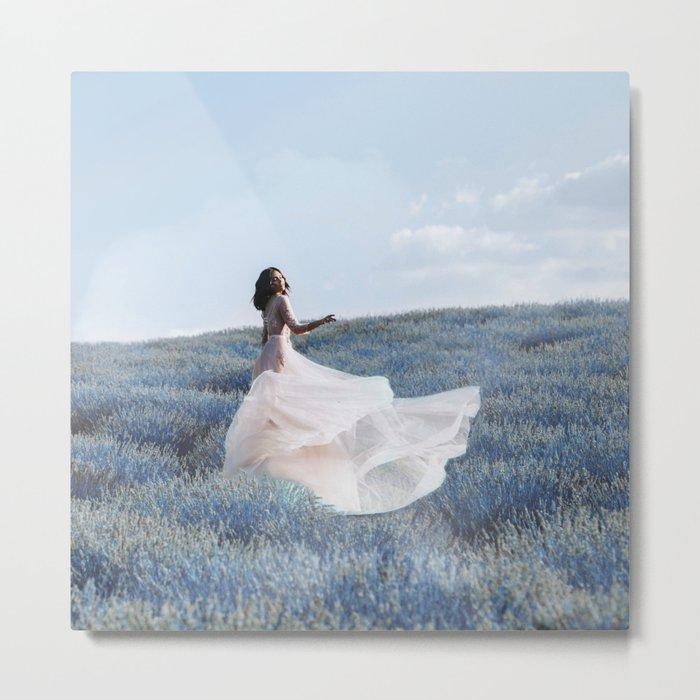 Blue field Metal Print