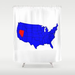 State of Nevada Location Shower Curtain