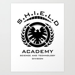 S.H.I.E.L.D Academy > Science and Technology Division Art Print