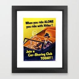 Vintage poster - Car-Sharing Club Framed Art Print