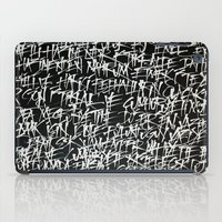 calligraphy iPad Cases featuring calligraphy by nihal ekinci