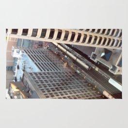 Chicago El Train Tracks Original Color Photo Rug