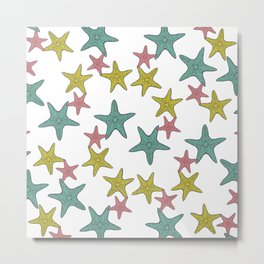 starfish tropical print Metal Print