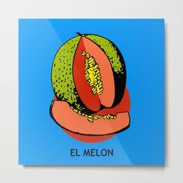 El Melon Mexican Loteria Card Metal Print