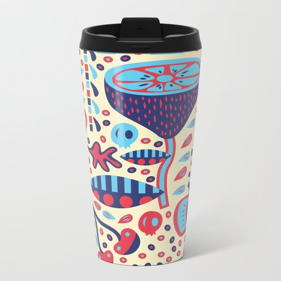 FRUIT PATTERNS Metal Travel Mug