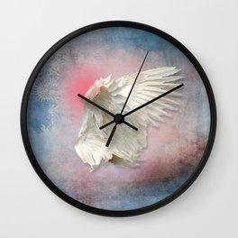 Lost Angel Wing Wall Clock