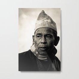 Nepalese man of Sindhupalchowk, Nepal Metal Print