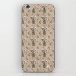 Swirly Elephant Family iPhone Skin